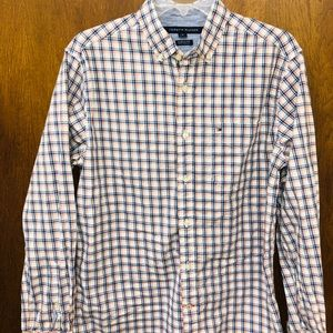 TOMMY HILFIGER mens casual button down shirt